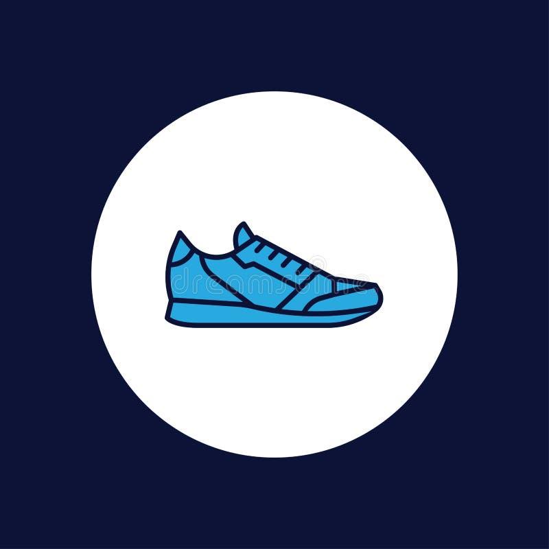 体育穿上鞋子传染媒介象标志标志 向量例证