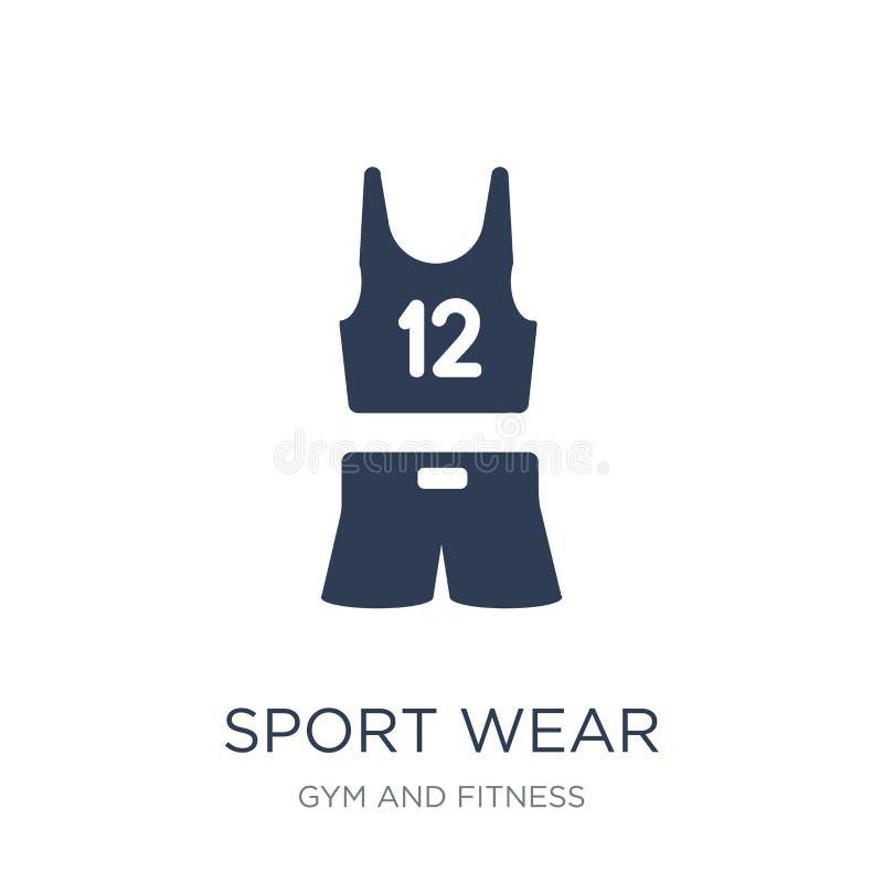 体育穿戴象 在白色bac的时髦平的传染媒介体育穿戴象 向量例证
