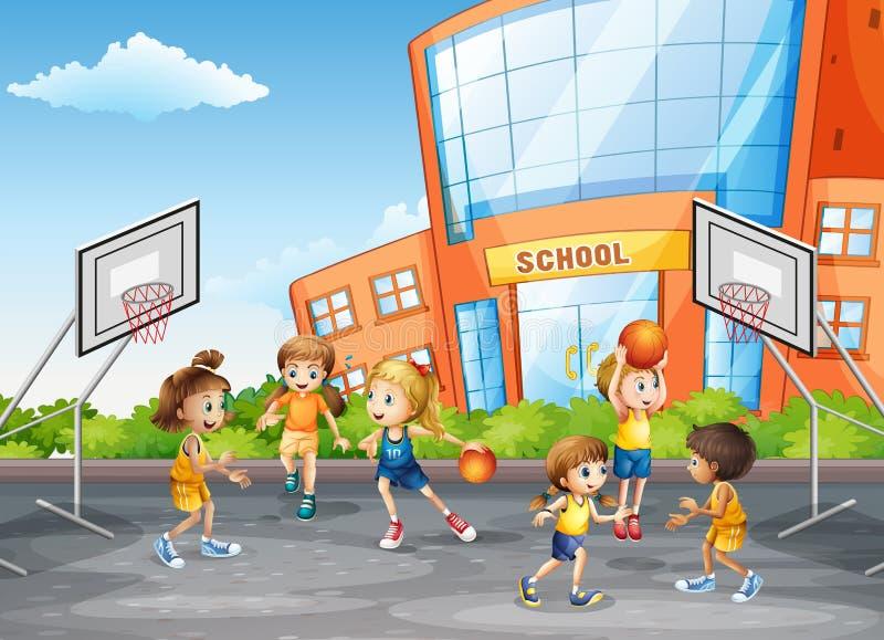 体育类的学生 向量例证