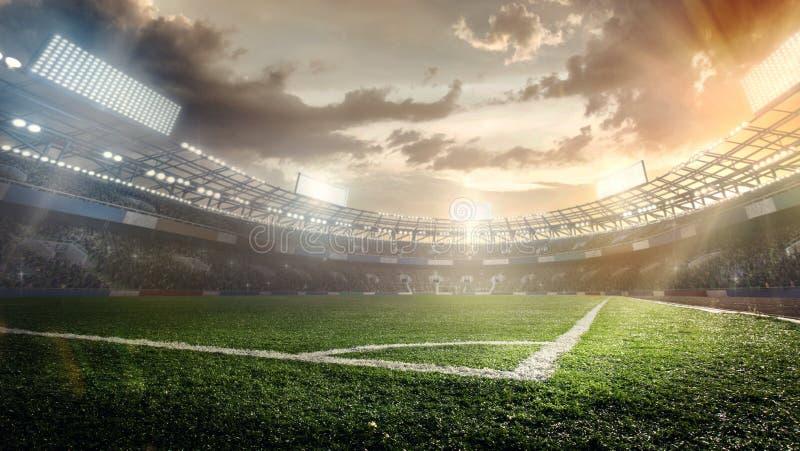 体育背景 01个城市巴黎足球场 向量例证