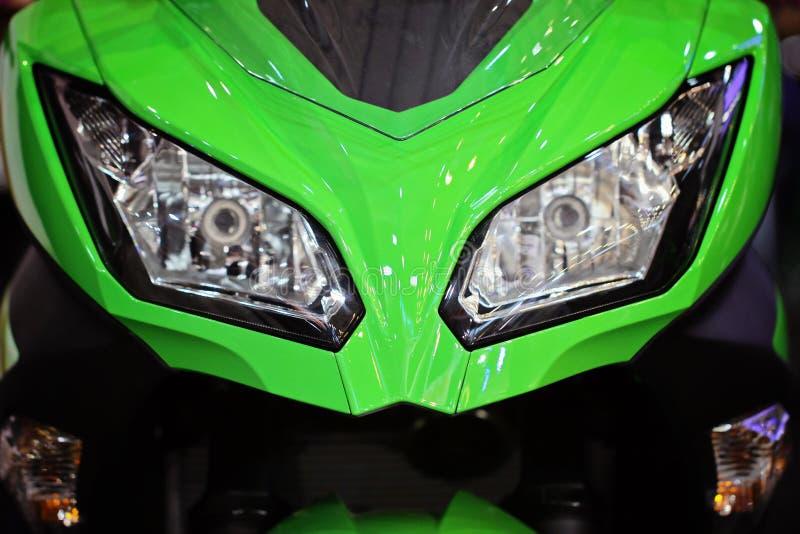 摩托车车灯 库存照片