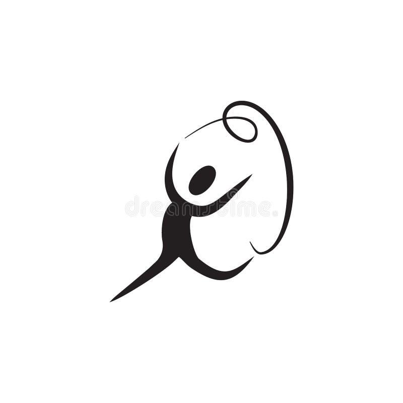 体育舞蹈象 舞蹈元素 优质质量图形设计象 网站的简单的爱象,网络设计,流动app,信息 向量例证
