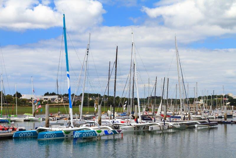 体育航行筏在洛里昂 免版税库存图片