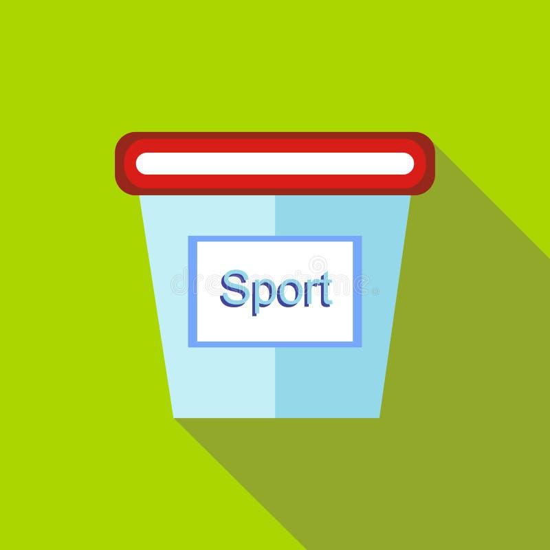 体育营养象的,平的样式容器 向量例证