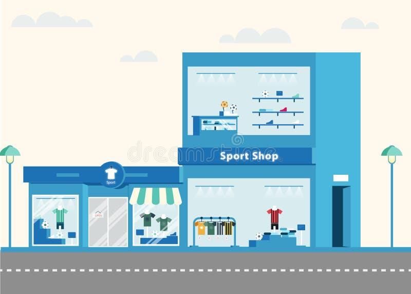 体育衣物商店 向量 免版税图库摄影