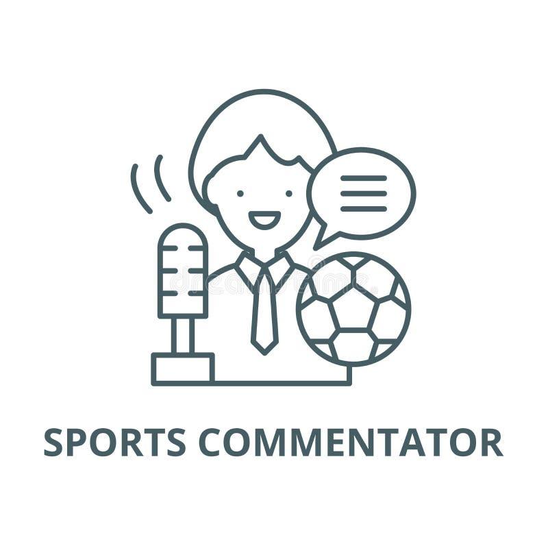体育评论员传染媒介线象,线性概念,概述标志,标志 皇族释放例证