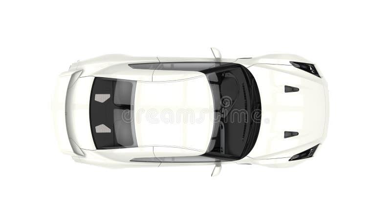 体育车的顶视图 皇族释放例证