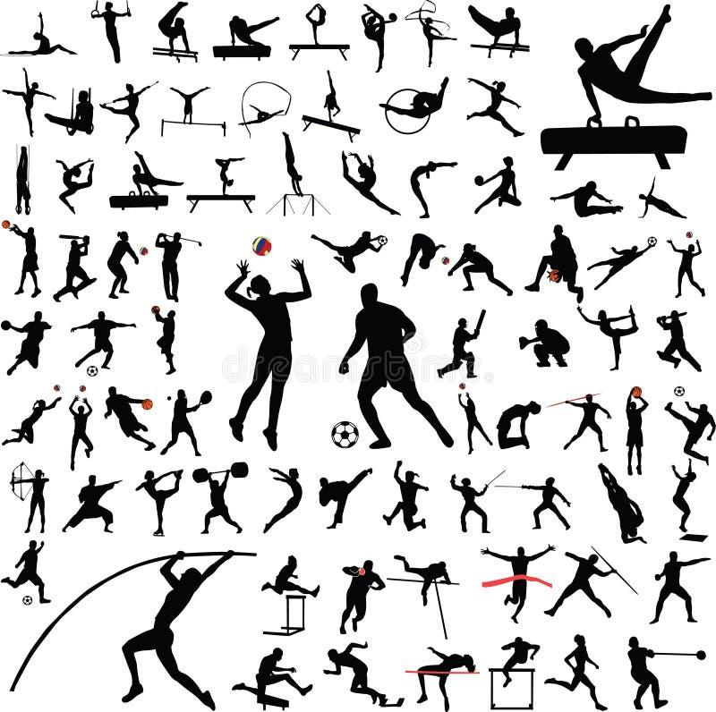 体育运动向量 皇族释放例证