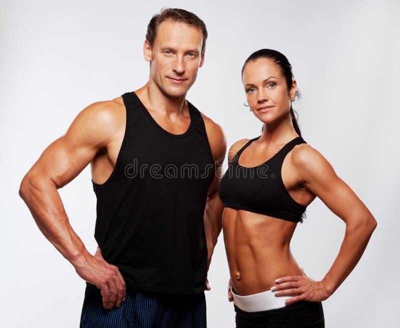 体育运动男人和妇女 免版税库存图片