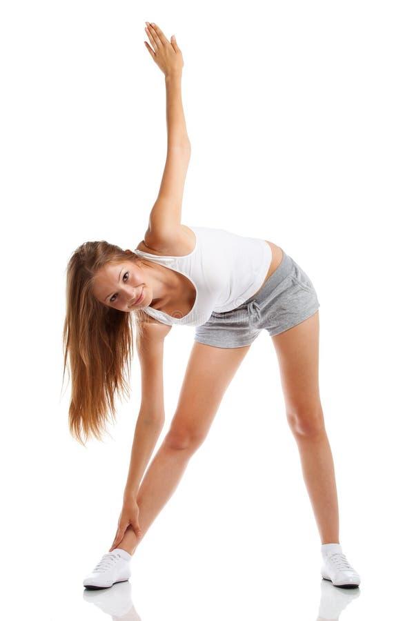 体育运动衣裳的妇女 免版税库存照片