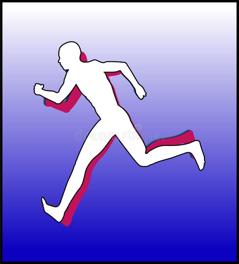 体育运动赛跑者2 皇族释放例证