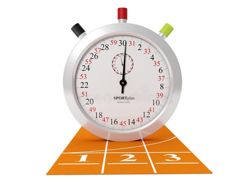 体育运动跟踪和秒表 向量例证