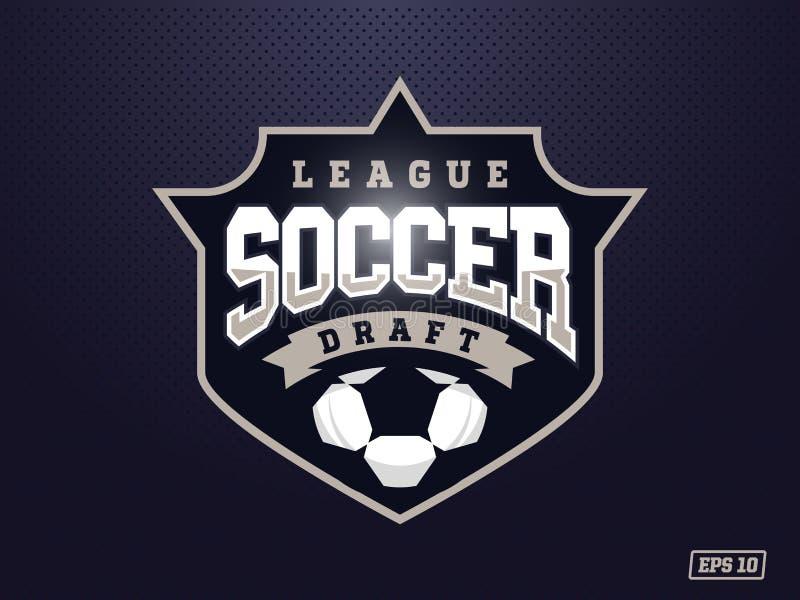 体育队的现代专业足球商标 皇族释放例证