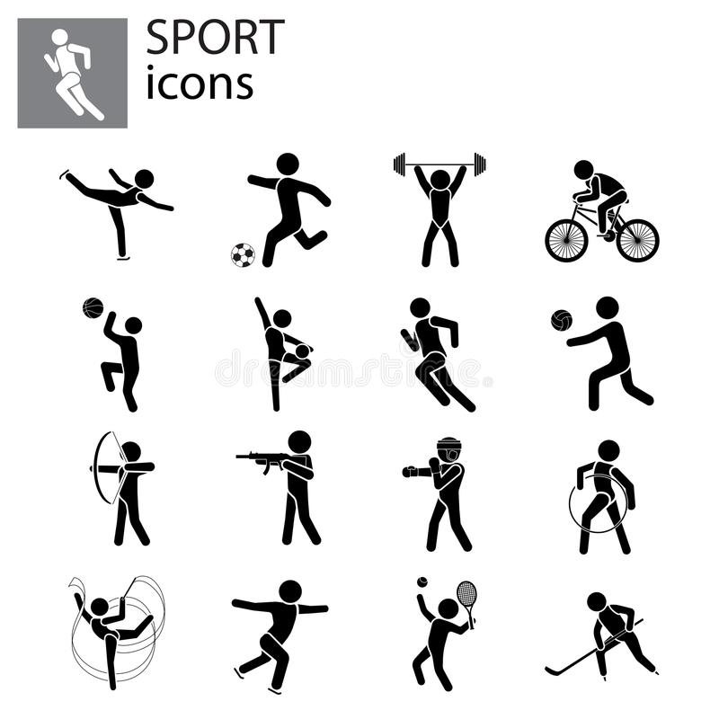 体育集合 种类体育 向量例证