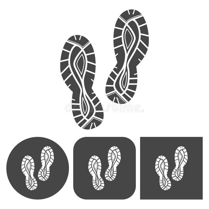 体育鞋子象-被设置的传染媒介象 皇族释放例证