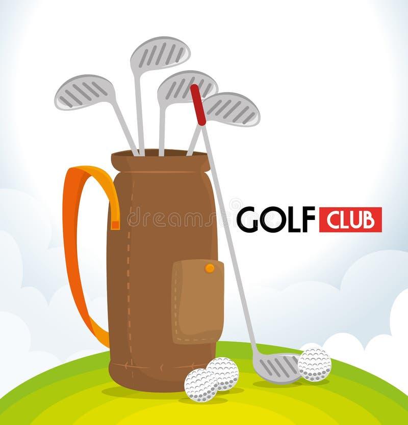 体育高尔夫俱乐部 库存例证