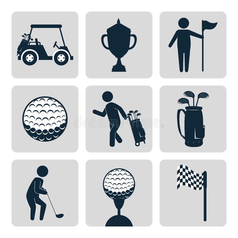 体育高尔夫俱乐部 皇族释放例证