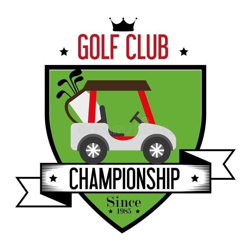 体育高尔夫俱乐部 向量例证