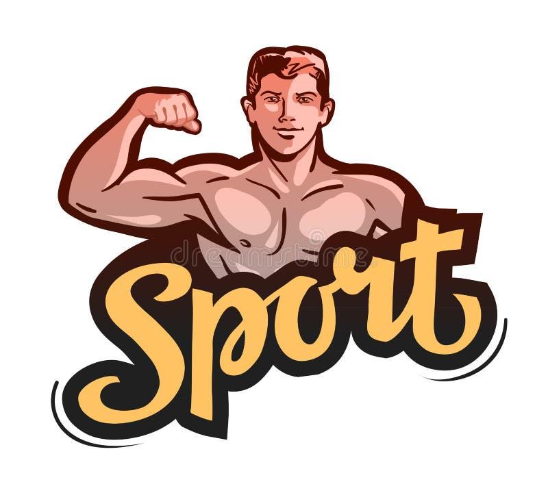 体育,健身房 爱好健美者弯曲胳膊 也corel凹道例证向量图片