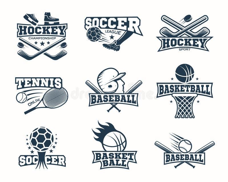 体育黑白照片商标 库存例证