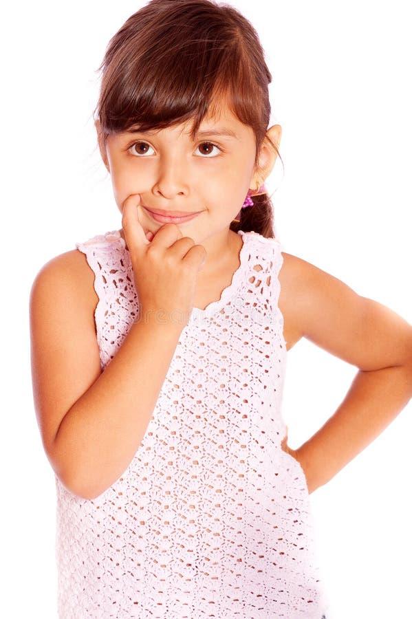 体贴表达式的女孩 免版税库存照片