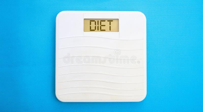 体重计,显示饮食 免版税库存照片