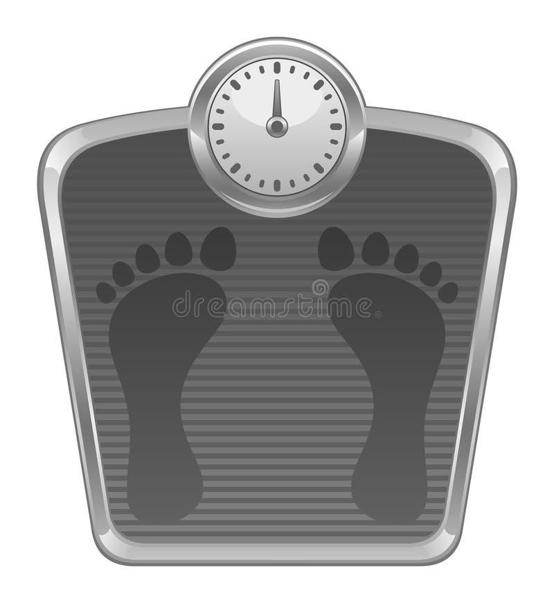 体重计 皇族释放例证