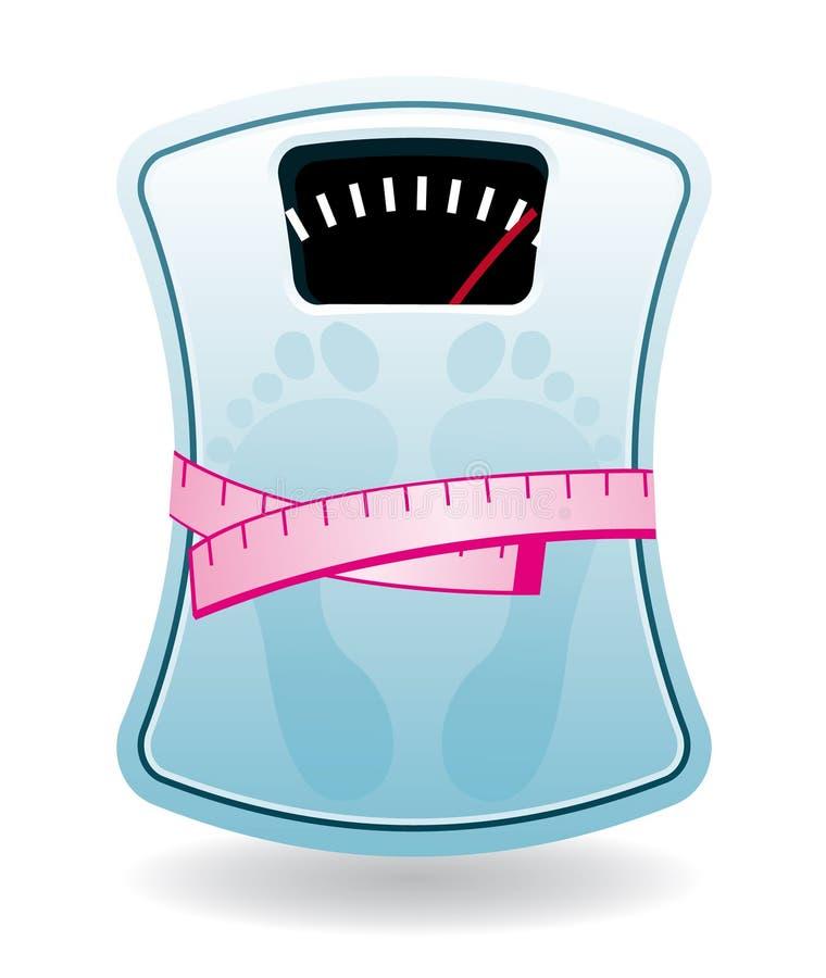 体重计 向量例证