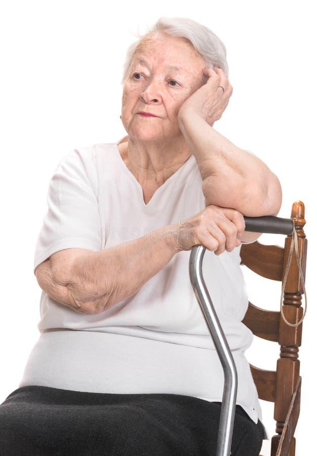 体贴的老妇人 免版税库存图片