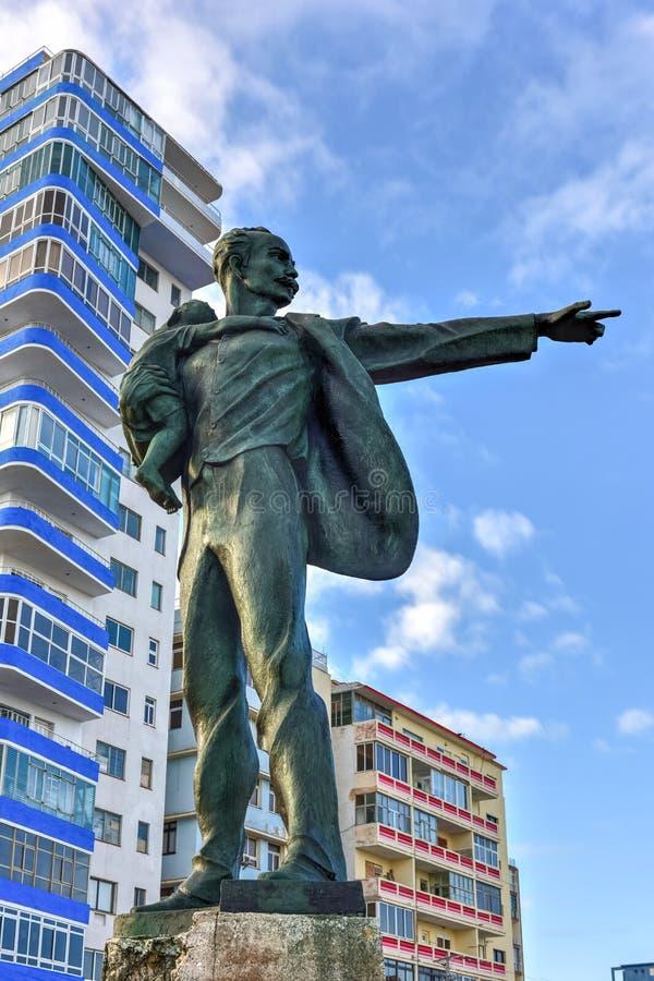 何塞马蒂反帝国主义者平台-哈瓦那,古巴 免版税库存图片