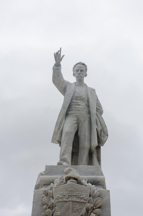 何塞马蒂哈瓦那古巴雕象  库存照片