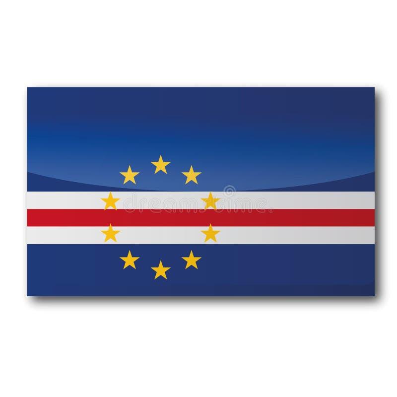 佛得角的旗子 向量例证