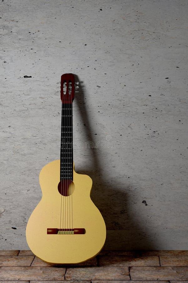 佛拉明柯舞曲吉他 皇族释放例证