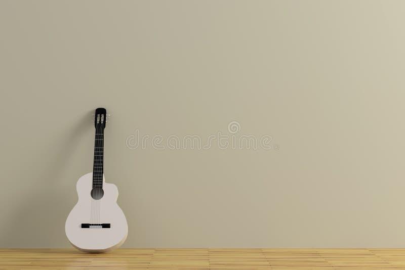佛拉明柯舞曲吉他 库存例证