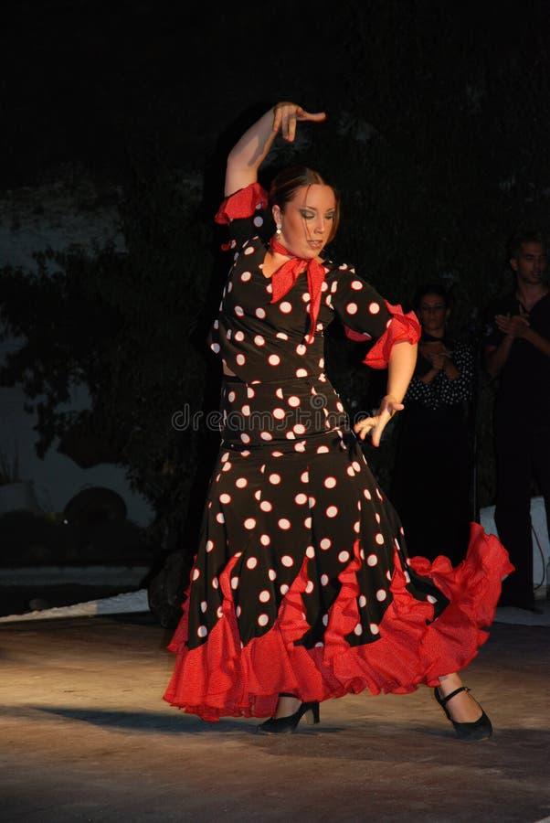 佛拉明柯舞曲舞蹈家表现 免版税库存图片