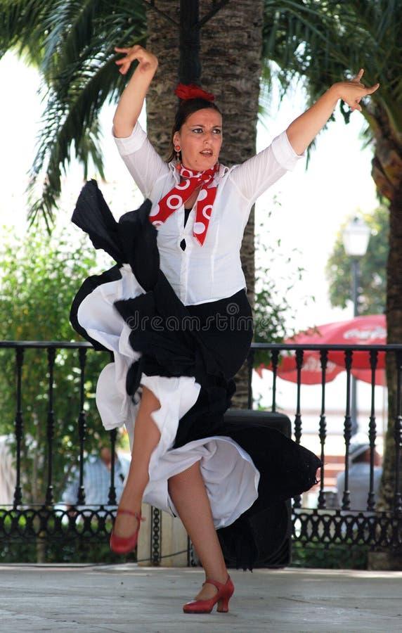 佛拉明柯舞曲舞蹈家,米哈斯 免版税库存照片