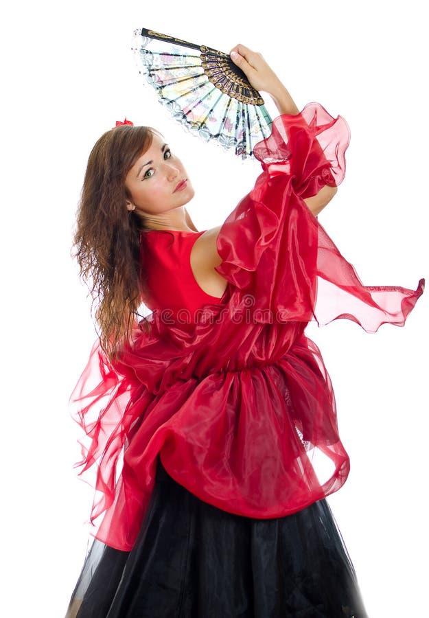 佛拉明柯舞曲舞蹈演员 免版税库存图片