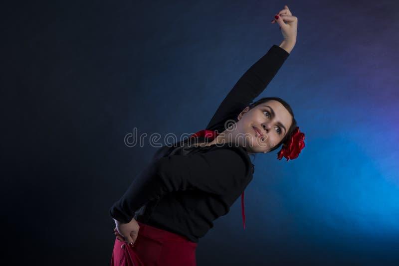 佛拉明柯舞曲舞蹈 免版税库存照片