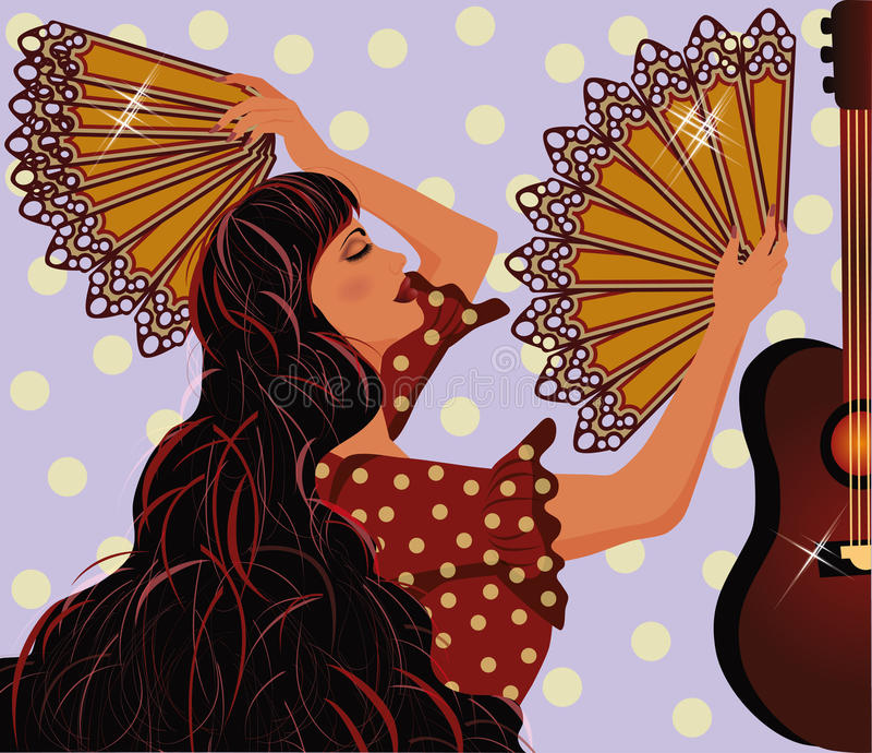 Download 佛拉明柯舞曲西班牙女孩和吉他 向量例证. 插画 包括有 舞蹈演员, 典雅, 女孩, 头发, 背包, 方式 - 30333793