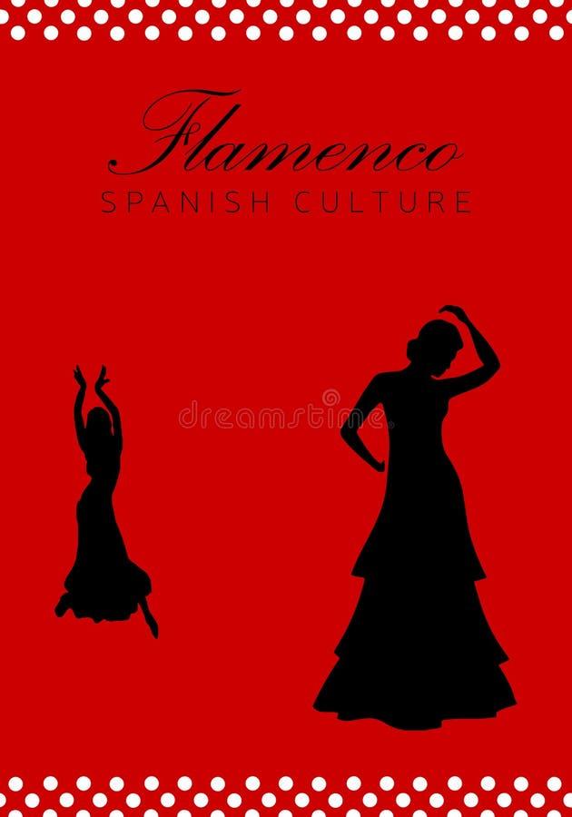 佛拉明柯舞曲跳舞剪影 西班牙文化 免版税库存照片