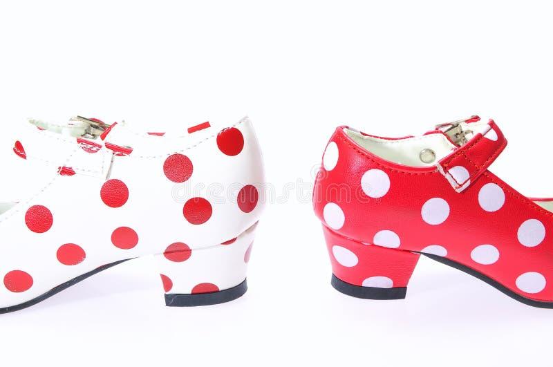 佛拉明柯舞曲鞋子。 免版税库存图片