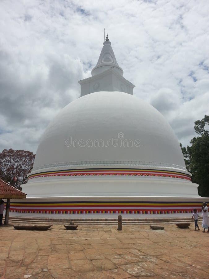 佛教塔在斯里兰卡 免版税库存照片