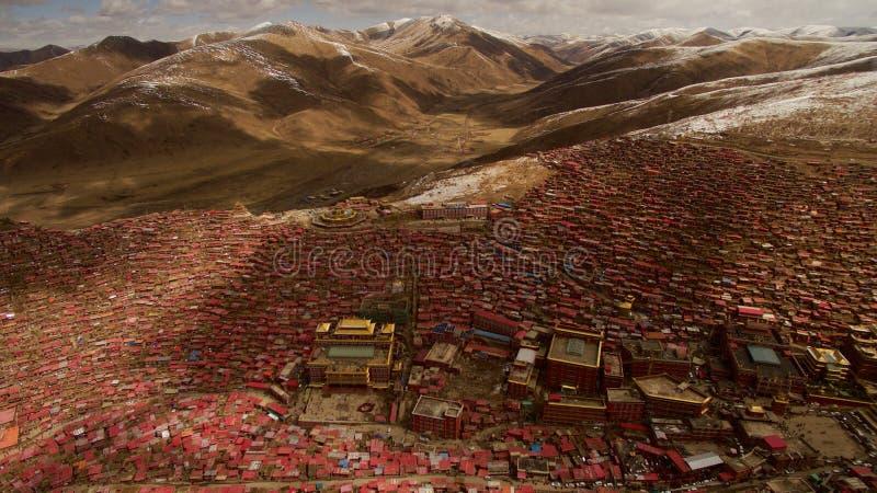 佛教学院在西藏 免版税库存照片