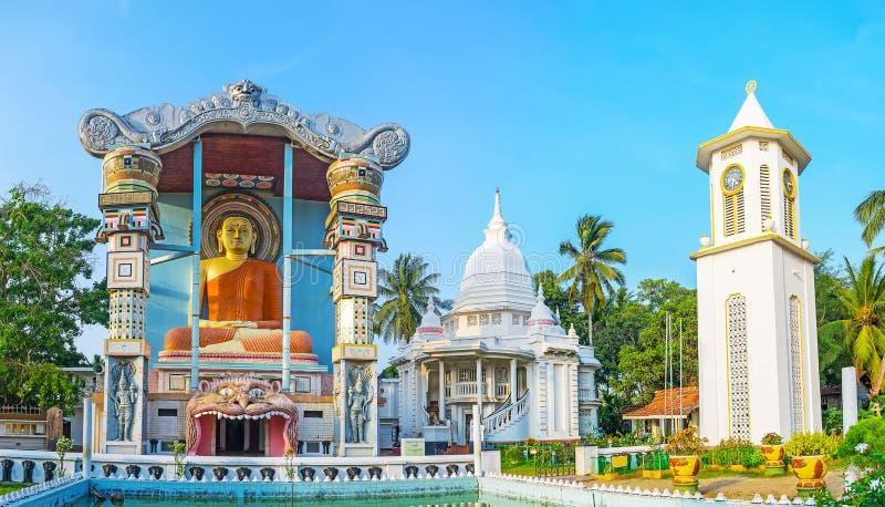 佛教寺庙全景在Negombo 库存图片