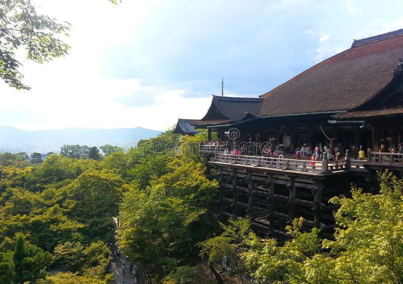 佛教寺庙在京都 免版税库存照片