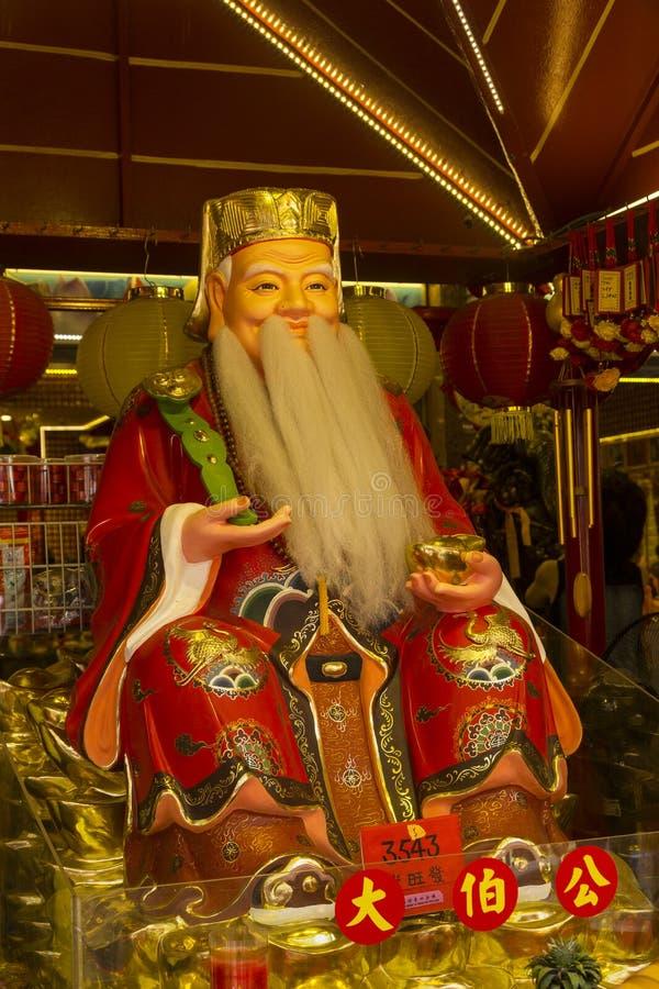 佛教寺庙在新加坡进城 免版税库存照片