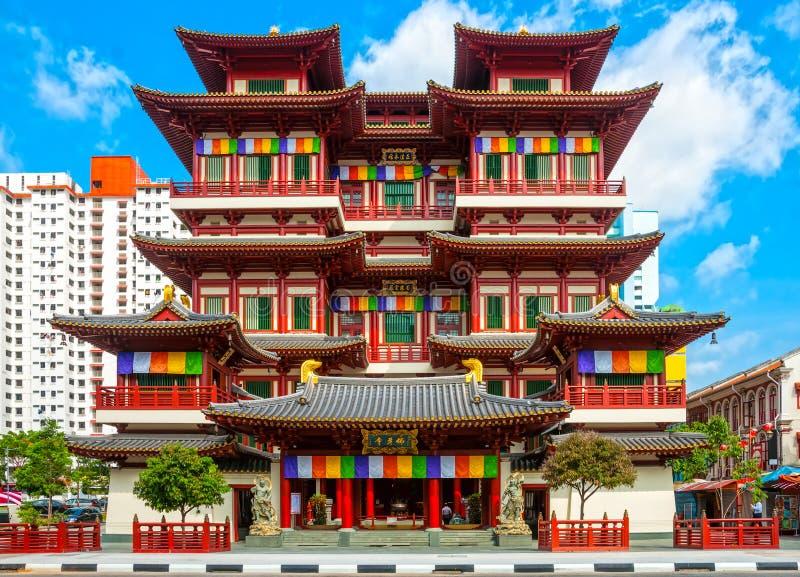 佛教寺庙在新加坡 免版税库存照片