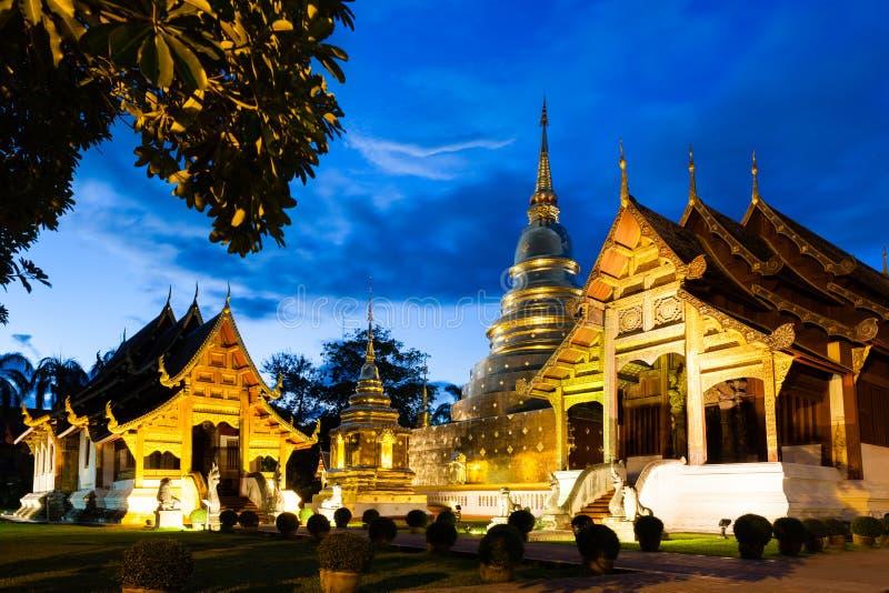 佛教寺庙在清迈 免版税图库摄影