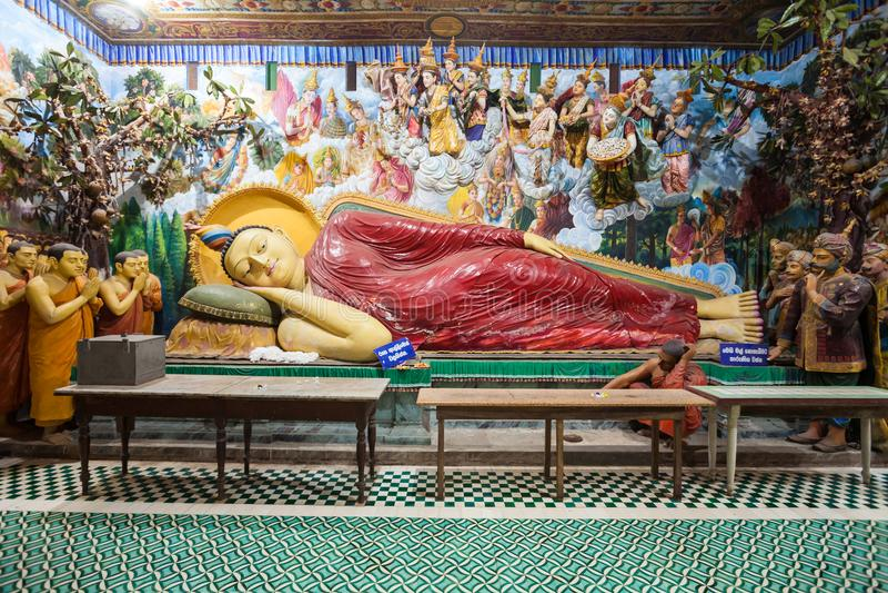 佛教寺庙在Negombo 库存图片