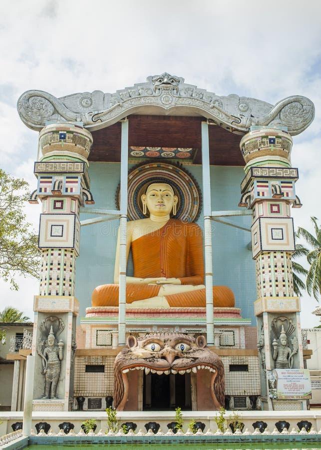 佛教寺庙狮子的嘴在Negombo 免版税库存图片